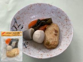 白身魚揚げと根菜の煮物