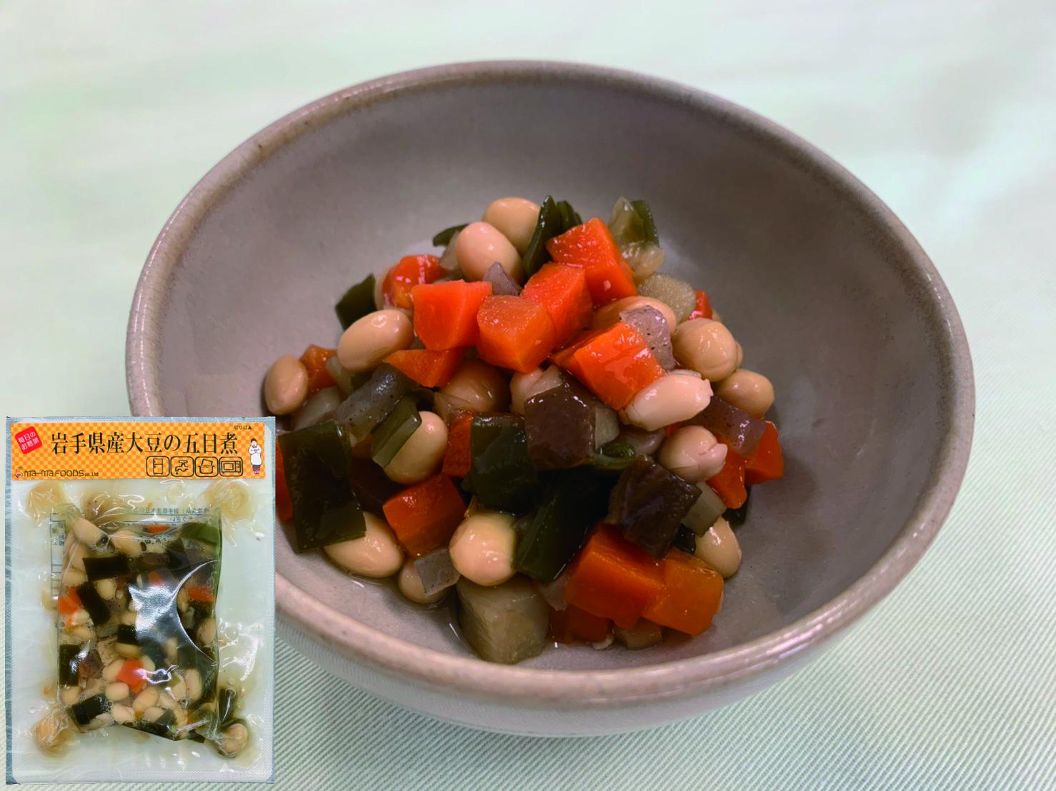 岩手県産大豆の五目煮