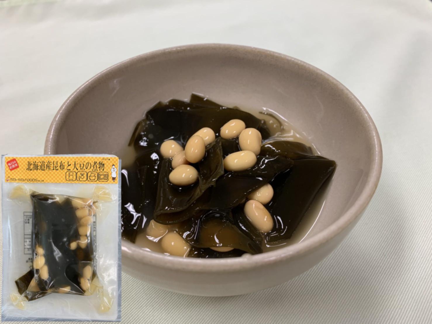 北海道産昆布と大豆の煮物